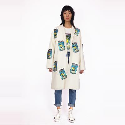 soup can coat white